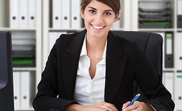 Female Accountant Smiling